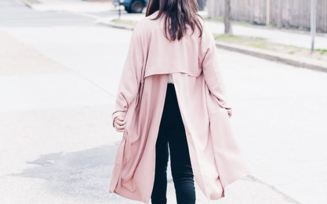 Blush Pink Duster